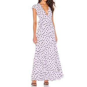 REVOLVE Tularosa Sid Wrap Dress Lilac polka dot XS